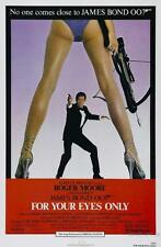 FOR YOUR EYES ONLY BOND ROGER MOORE MOVIE POSTER FILM A4 A3 ART PRINT CINEMA