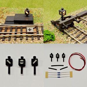 Weichenlaterne Gleissperrsignal beleuchtet LED für H0 Weichen Set Bausatz S531