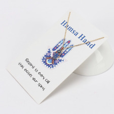 "Women's Fashion Jewelry ""Hamsa Hand"" Evil Eye Gold Or Silver Pendant Necklace 11"