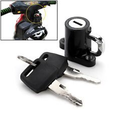 Universal Motorcycle Motorbike Helmet Lock Hanger Hook & 2 Keys Locking Set