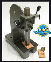 Leather 2000 pound stamp press and steel plate tool for Tandy 3-D craft  NEW !!!