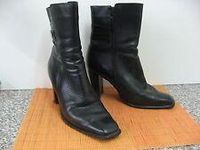 BOOTY Stiefel / Stiefeletten, Design in Italy, Schwarz, echtes Leder, Gr. 10 /41