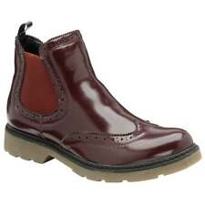 LADIES DOLCIS DOCTOR WINLOVE CHELSEA MEMORY FOAM BURGUNDY ANKLE BROGUE BOOT UK 8