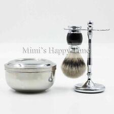 1St Class Silvertip Badger Hair Shaving Brush + Mug + Razor Stand Tool Holder