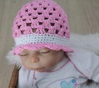 Mütze Baby Baumwolle  Babymütze Fotoshooting  - NEU Kopfum. 35 - 40cm