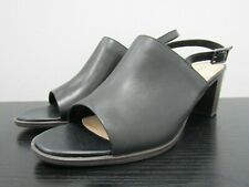 Clarks Kaylin60 Sling Women's Black Leather Slingback Open Toe Sandals Size 9 M