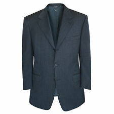 CANALI dark navy blue wool fully canased 3-button blazer sportcoat jacket 44/54