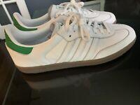 Adidas Samba OG Mens Shoes White / Green / Gum d96783 RARE! Premium leather!