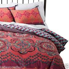 NEW Nadia Duvet Set - Boho Boutique Coral  King Size