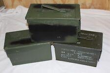 1x orig US BW Munitionskiste Munikiste Box Transportkiste Cal 50mm Metall Oliv 3