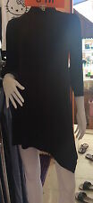 Black Zenana Outfitters  Choker Long Sleeve Club/Casual Short  Dress Size 10-12