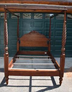 Ethan Allen British Classics Montego Queen Canopy Bed 29-56505  Cinnabar