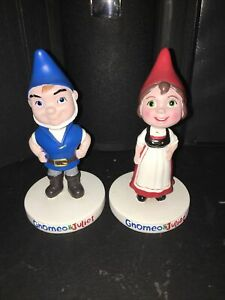 Gnomeo  and Juliet Ceramic Bobbleheads Set Touchstone Pictures garden statues