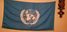 Vintage United Nations Flag Un International Banner 3x5 Foot Country Flags