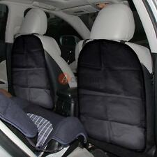 2 Pack Car Auto Seat Back Protector Cover for Children Kick Mat Mud Clean Black