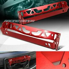 For Honda Acura Adjustable Bumper Red Aluminum License Plate Holder Bracket