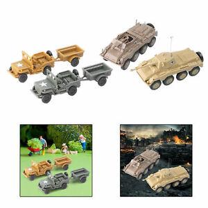 4x véhicule blindé de remorque de char 1:72 Kit de modèle de bataille de