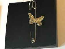 """Pin Pewter 3"""" 7.5 cm Butterfly Tg164 Pewter Scarf and Kilt"""