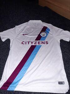 * AUTHENTIC Manchester city shirt MCFC NIKE CITYZENS CHAMPIONS 2017 / 18 SIZE L