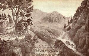 On The Frontier L.H. Dude Larsen Vintage Postcard PC404