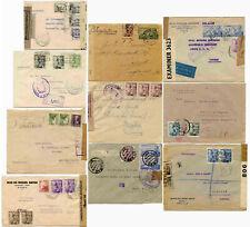 España censurado correo Segunda Guerra Mundial cubre Airmails frankings registrado etc. cada uno con un precio