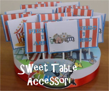base con lecca lecca set festa compleanno party sweet table luna park torta