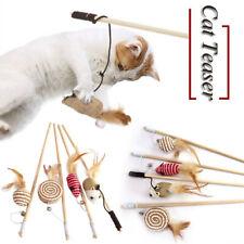 Pet Cat Supplies Interactive Toy Kitten Wand Toy Supplies  Wooden Pole Stick
