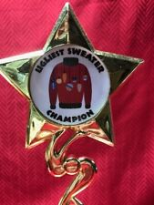 Ugly Sweater Champion Trophy Award-Free Priority Mail Shipping-Free Engraving