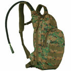 NEW Fox Outdoor Products Compact Hydration Backpack 2.5L, DIGITAL WOODLAND CAMO