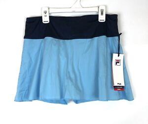 Fila Women's Heritage Flirty Activewear Skirt, Blue, Size Medium