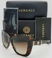 New Versace sunglasses VE4305Q 514813 Tortoise Gold Medusa 4305 Cat eye GENUINE