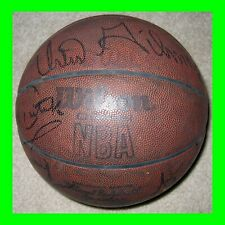 1980 AUTOGRAPHED SIGNED CHICAGO BULLS TEAM Wilson Official NBA Basketball HOF