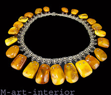 Beautiful succinico Argento Collier Baltic Amber Butterscotch Necklace * 96,39 G