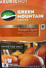 Pumpkin Spice Green Mountain Coffee 12 K Cups  FREE SHIPPING Bestby Oct 2017