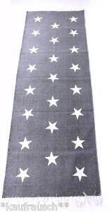 Teppich Läufer mit Sternen 70 x 200 grau Sterne Stern Muster Flur stars carpet