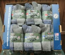 Mens Socks Merino Wool Outdoor Hiking Working Walking Pack Of 6 pairs Med / Lge