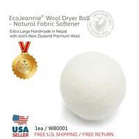 EcoJeannie Wool Dryer One Ball- XL100% Virgin New Zealand Wool