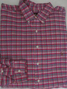 NWT Ralph Lauren Casual Button Front Shirt Pink/Multi Plaid TALL Size XLT