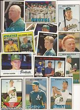 2016 Topps Heritage Oakland A's 18 Card Master Team Set w/ SPs & Inserts