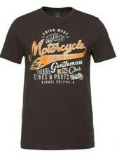 John Devin Herren T-Shirt Biker Style Kurzarm Motorcyle Shirt S M Schwarz NEU