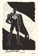 Frank Miller SIGNED Superman Annversary DC Comic Art Print #400 Portfolio Plate