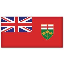 "ONTARIO Canada Flag car bumper sticker decal 5"" x 3"""