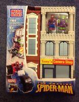 Mega Bloks 1969 Marvel City Towers Spiderman Green Goblin Camera Shop Rare