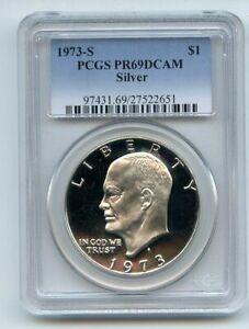 1973 S $1 Silver Ike Eisenhower Dollar Proof PCGS PR69DCAM