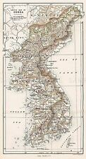 Mappa Repro ANTICO JOHNSON schizzo Uniti Corea Corea grandi ART PRINT lf896