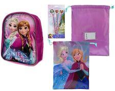 Frozen Disney Die Eiskönigin 3'er Set Rucksack+Turnbeutel+3 Bleistifte+Radierer
