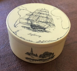 Vintage Signed Artek Poole Scrimshaw Save the Whale Collection 1977 trinket box