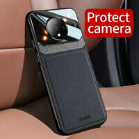 For OnePlus 7 7T Pro 6T 6 Luxury Leather Hybrid Acrylic Protective Case Cover