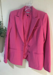White House Black Market Pink Blazer Career Casual Jacket Pink Lined Sz 4 W1