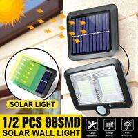 98 LED COB Solar Power Sensor Motion Light Garden Flood Lamp Security Wall Lamp